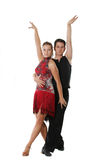 拉丁跳舞夫妇 免版税库存图片