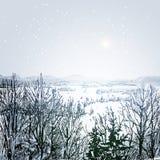 Χειμερινό τοπίο Στοκ εικόνες με δικαίωμα ελεύθερης χρήσης