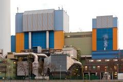 现代废物对能量植物奥伯豪森德国 免版税库存照片