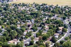 空中的郊区 免版税库存照片