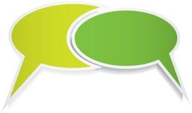 Δύο λεκτικές φυσαλίδες Στοκ εικόνα με δικαίωμα ελεύθερης χρήσης
