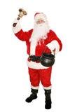 慈善收集圣诞老人 免版税库存照片