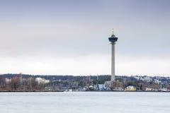观测塔在坦佩雷,芬兰 库存图片
