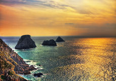 Заход солнца в конце мира Стоковая Фотография