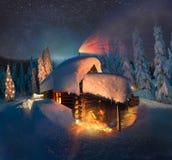 圣诞老人议院  免版税库存照片