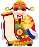 Κινεζικός Θεός της απεικόνισης σχεδίου ευημερίας Στοκ φωτογραφία με δικαίωμα ελεύθερης χρήσης