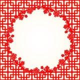 Китайская предпосылка вишневого цвета Нового Года Стоковые Изображения RF
