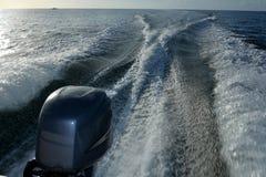 速度小船引擎 免版税库存照片