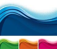 波浪背景横幅 免版税图库摄影