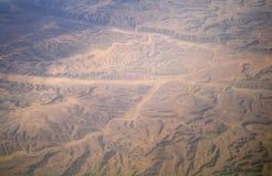 沙漠的类型从空气的, 免版税库存图片