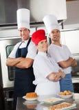 确信的厨师队  免版税库存图片