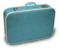 蓝色手提箱 库存照片