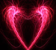 Предпосылка фрактали сердца Стоковое Изображение RF