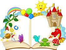 Κινούμενα σχέδια βιβλίων φαντασίας Στοκ εικόνα με δικαίωμα ελεύθερης χρήσης