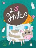 Корова милая Стоковая Фотография RF