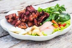 油煎的酸肋骨猪肉 免版税库存照片