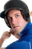 棒球运动员头射击 库存图片