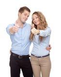年轻愉快的夫妇 图库摄影