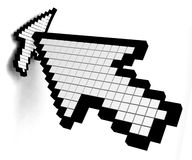 щелкните стрелку Стоковая Фотография RF