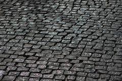 Μαύρος υγρός κυβόλινθος Στοκ Φωτογραφίες