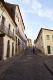 传统殖民地巴西村庄建筑学圣地雷斯巴西 库存图片
