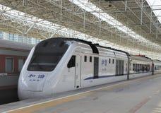 Μεγάλη ταχύτητα σιδηροδρόμων της Κίνας Στοκ εικόνα με δικαίωμα ελεύθερης χρήσης