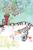 Μουσική απεικόνιση φαντασίας. Στοκ φωτογραφία με δικαίωμα ελεύθερης χρήσης