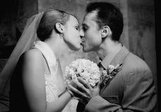 夫妇结婚的年轻人 库存照片