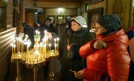 Украинские правоверные христиане празднуют рождество Стоковые Изображения RF