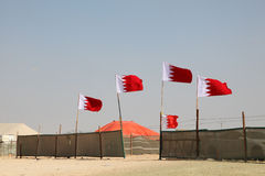 Лагерь пустыни в Бахрейне Стоковое фото RF