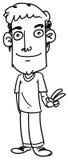 Человек шаржа Стоковые Фотографии RF