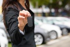 汽车销售和出租概念 免版税库存图片