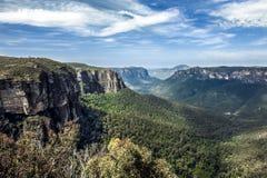 蓝山山脉,澳大利亚 免版税库存图片