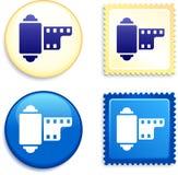 Γραμματόσημο και κουμπί εξελίκτρων ταινιών Στοκ φωτογραφίες με δικαίωμα ελεύθερης χρήσης