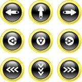 иконы стрелки Стоковое Изображение