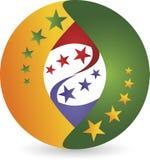 Стильный логотип глобуса Стоковые Фото