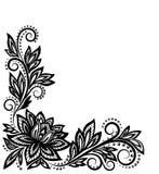 美好的花卉样式,在老牌的设计元素。 免版税库存照片