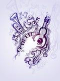 Μουσική απεικόνιση φαντασίας. Στοκ Εικόνες
