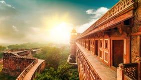 阿格拉堡。阿格拉,北方邦,印度,亚洲。 库存照片