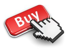 Онлайн концепция покупок Стоковые Изображения RF