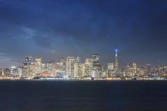旧金山在假日精神上 免版税库存照片