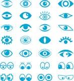 套动画片眼睛 免版税图库摄影