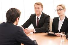 Собеседование для приема на работу. Стоковые Изображения