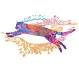 Скача кот Стоковые Фотографии RF