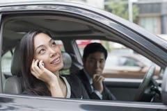 汽车的专业商人 免版税图库摄影