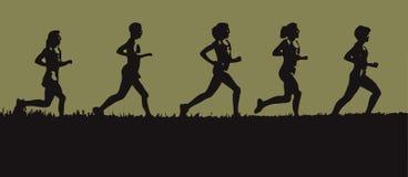 展望期赛跑者 库存图片