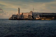 哈瓦那,古巴海湾的著名堡垒  库存照片