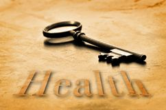 健康的钥匙 免版税库存照片