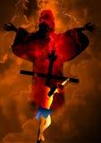 耶稣基督在十字架上钉死和复活 库存图片
