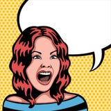 Женщина кричащая Стоковое Изображение
